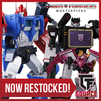 Transformers News: TFSource News! MP-40 Targetmaster Hot Rodimus, MPM05 Barricade, TW Constructor Green / Clear & More!