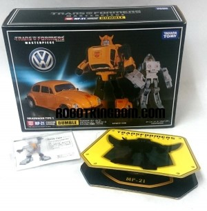 Transformers News: More Images of Takara Tomy Masterpiece MP-21 Bumblebee: Box, Face, Coin