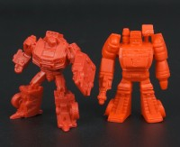 Transformers News: Size comparisons of SDCC 2013 Metroplex mini-figures to G1 Decoys