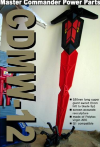 CDMW-12 Master Commander Power Parts Sword Revealed