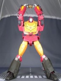 Transformers News: Toy Images of Masterpiece MP-09 Rodimus Convoy - Hot Rod Mode