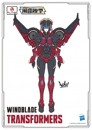 Flame Toys Reveal Updated Windblade Design