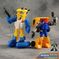 Transformers News: Official Images of iGear Mini Warriors Rager and Spray