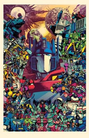 Kei Zama / Josh Burcham Cover for IDW Transformers Optimus Prime #25