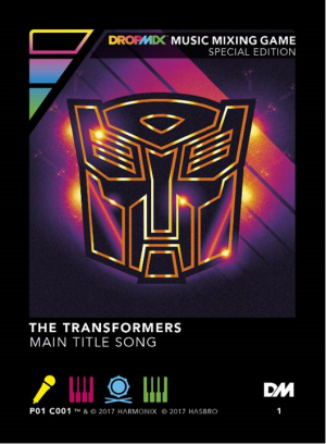 Transformers News: Hasbro and Harmonix DropMix Game Exclusive PAX Prime Transformers Playing Card