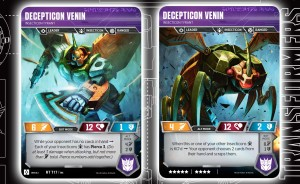 Deluxe Insecticon Venin Revealed For Transformers Trading Card Game And More.