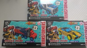 Transformers News: New Transformers DIY Assembly Kits Featuring Robots in Disguise Optimus Prime, Strongarm and Bumblebee