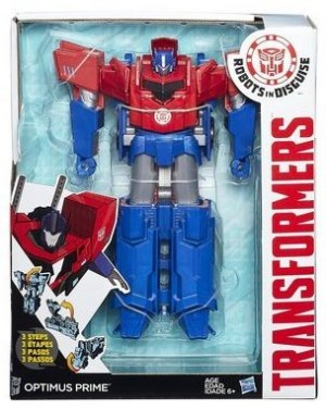 Transformers News: Transformers Robots in Disguise Hyperchange 3-step Optimus Prime In-package / Robot Mode Image