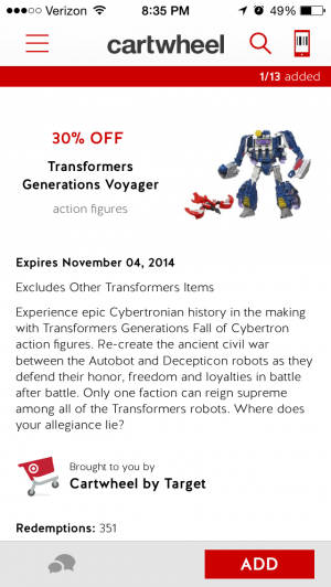 Transformers News: 30% Off Of Voyagers If You Use The Target Cartwheel App