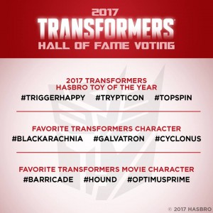 Transformers Hall of Fame 2017 Voting Open