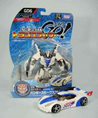 Transformers News: In-Hand Images: Takara Tomy Transformers Go!  Hunter Smokescreen