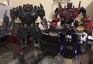 Transformers News: In Hand Images of Voyager Megatron from Transformers: The Last Knight with Comparisons for Scale