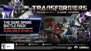 Transformers News: Transformers: Rise of the Dark Spark Pre-Order DLC is now avilable