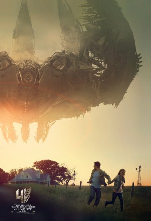 Transformers News: New Transformers: Age of Extinction Poster featuring Mark Wahlberg and Nicola Peltz