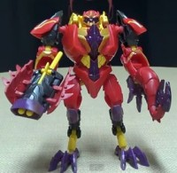"Transformers News: Transformers Prime ""Beast Hunters"" Deluxe Lazerback Video Review"