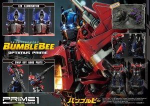 Transformers News: Prime 1 Studio Bumblebee Optimus Prime statue, with full gallery, sizes, and exclusive accessories