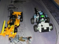 Transformers News: In-hand Images Human Alliance Wave 3 Half-Track and Dragstrip