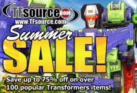 Transformers News: TFsource 8-6 SourceNews! The Summer Sale Continues!!!!
