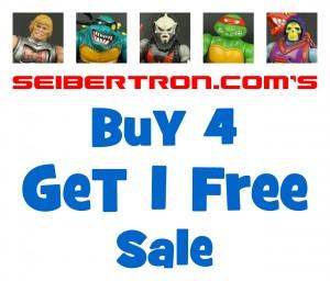 Seibertron.com Store Summer Sale: All Items Buy 4 Get 1 Free Plus 40% Off MOTU, TMNT and Comics