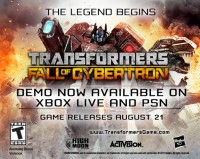 Transformers News: Transformers: Fall of Cybertron Demo Available Now for Xbox Live and PSN