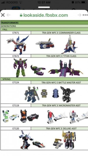 Potential First Look Transformers War for Cybertron: Earthrise Scorponok, Sky Lynx, Battlemasters, Micromasters