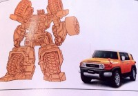 Transformers News: Scans of Takara Tomy Toyota FJ Cruiser Optimus Prime