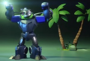 Transformers News: Angry Birds Transformers: Foreman Pig as Lockdown!