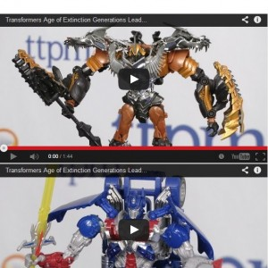 Transformers News: AoE Leader Class Grimlock And Optimus Mini Video Reviews