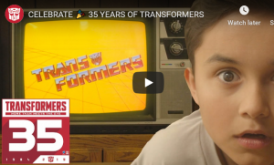 Transformers News: Transformers 35th Anniversary Video Posted to Official Transformers YouTube