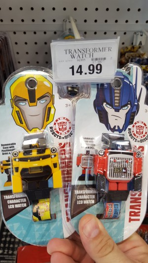 Transformers News: Transformers: Robots in Disguise Transforming Watches Sighted at US Retail