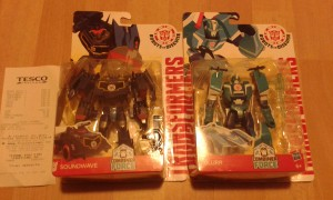Transformers News: Robots in Disguise Warrior Soundwave, Blurr and Skywarp found at Irish Tescos