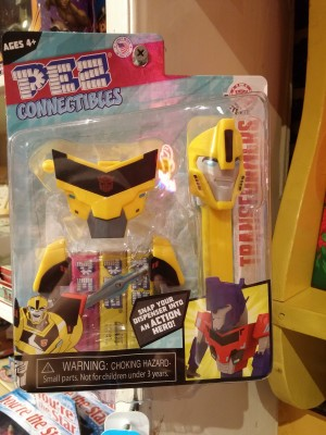 Transformers News: Transformers: Robots in Disguise Bumblebee PEZ Connectibles Found at US Retail