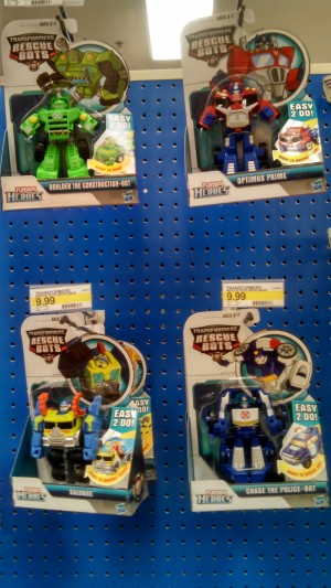 Transformers: Rescue Bots Rescan Optimus Prime and Salvage Sighted at US Retail
