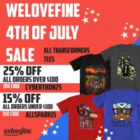 WeLoveFine 4th of July Transformers Sale