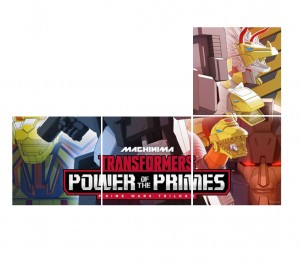 Portion of new Poster for Machinima Transformers Power of the Primes Animated Series Revealed
