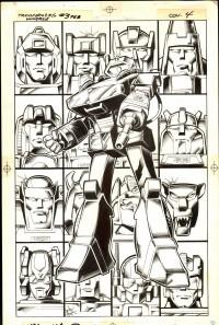 Transformers News: Marvel Transformers Comic Original Art for Sale