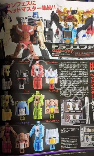 Takara Transformers Legends Individual Headmasters Chromedome, Hardhead, Brainstorm and More