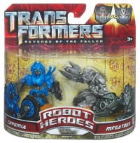 Transformers News: Official Images of Robot Heroes Chromia vs Megatron, Ratchet vs Barricade.