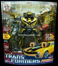 Transformers News: Robotkingdom Update:  Metallic Finish - Battle Ops Bumblebee arrived!