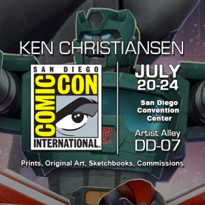 Ken Christiansen in Artist Alley DD-07 at San Diego Comic Con 2016