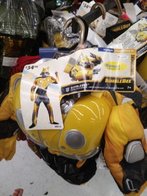 Walmart Exclusive Transformers Bumblebee Movie Costume and G1 Optimus Gloves Found in Stores