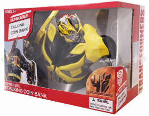 Transformers News: Calibre Toys Transformers: Age of Extinction Bumblebee and Optimus Prime Talking Coin Bank Voice Clips