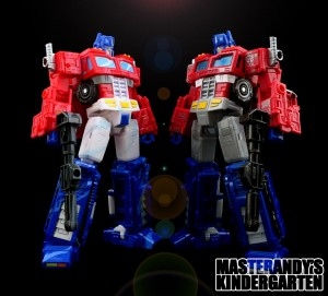 New Images of Transformers Siege Optimus Prime and Megatron 35th Anniversary Cell Shaded Versions