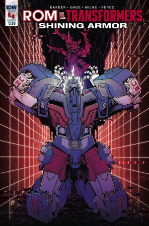 Transformers News: Review of IDW Rom Vs. Transformers: Shining Armor #4
