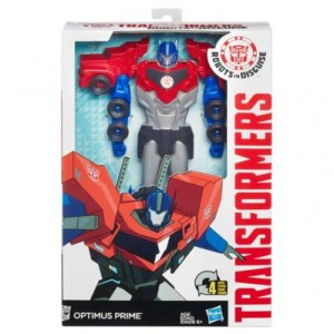 Stock Images - Transformers Robots in Disguise Titan Changers Optimus and Bumblebee