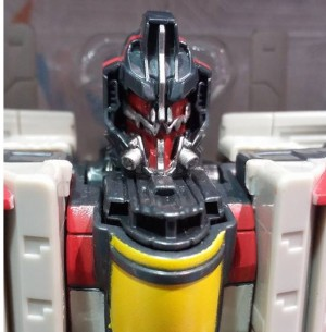 Transformers News: Possible head variant of Bumblebee Nitro Blitzwing of Animated Blitzwing's crazy face