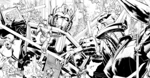 Tryptich Cover Art for IDW Hasbro Universe's First Strike by Whilce Portacio
