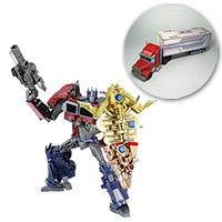 "Toys""R""Us Japan Exclusive Arms Micron Battle Shield Optimus Prime with Papercraft Trailer Image"