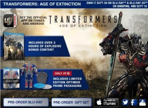 Transformers: Age of Extinction Blu-Ray and Digital HD Pre-Orders, Release on 16th / 30th September