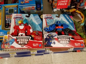Transformers News: Transformers: Rescue Bots Heatwave and Optimus Prime Spotted at Retail